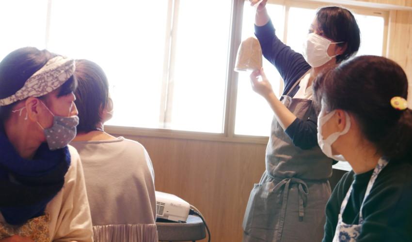 はっこうする手しごとの会、北村美穂さんの「白味噌づくり体験」